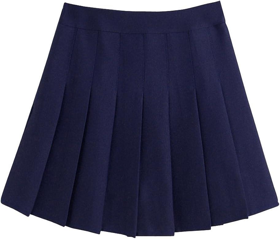 los Angeles b1806 ddaea ShiFan Mujeres Falda Tenis Plisada Cintura Alta Uniforme Escolar Mini Faldas