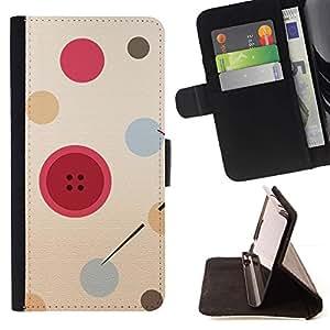 Momo Phone Case / Flip Funda de Cuero Case Cover - Botón del diseñador de moda rojo - Samsung Galaxy S6 Active G890A