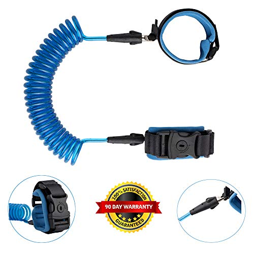 Setting Bracelet Link - Anti Lost Wrist Link Kids Leash Child Safety Wristband Toddler Harness Leash with Lock (Blue)