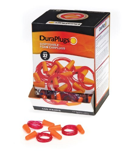 Liberty DuraPlug Corded Disposable Foam Earplug with 32 dB NRR, Orange (Case of 100 Pairs) by Liberty Glove & Safety