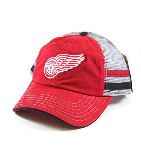 Detroit Red Wings NHL Foundry Grey Soft Mesh Back Adjustable Snapback Hat