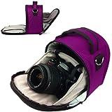PURPLE PLUM Travel Luxury VanGoddy Laurel Compact DSLR & SLR Designed Small Camera Bag Design