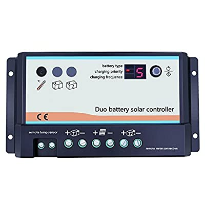 EPEVER 60A Solar Charge Controller 12V/24V Battery Charge Regulator Input with LCD Display Dual USB Output