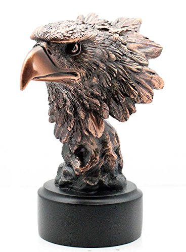 Patinated Copper Bronze Eagle Bust Statue for sale  Delivered anywhere in USA