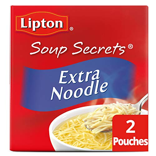Lipton Soup Secrets with Real Chicken Flavor Extra Noodle Soup Mix 4.9 oz 2 ct ()