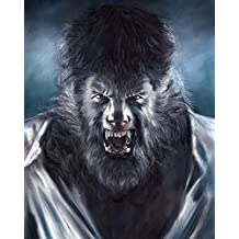 "Wolf Man - Horror Movie - 100% Handmade Pastel Painting Poster By Artist Eugene High-quality Photo Paper Size 22.4""x28"""
