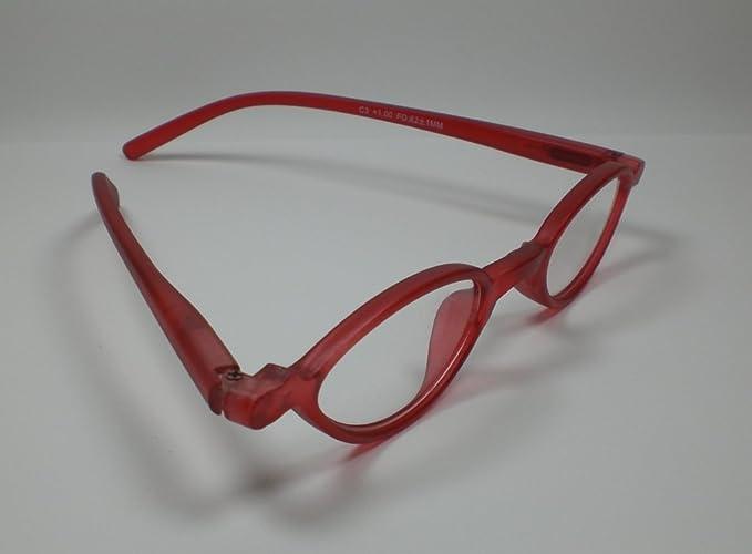 Look and see Designer occhiali da lettura + 3,5diop. Rosso per lui & lei Flex cinghia tracolla da lettura