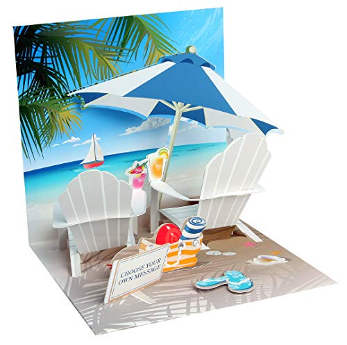 POP UP Greeting Card Tropical Beach All Occasion