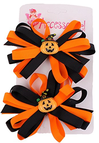 Halloween Pumpkin Witch Hair Bow - Spice Girl Costume Posh