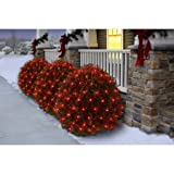 Holiday Time Christmas Net Light Set Red Bulb,150 Count (Set of 5)