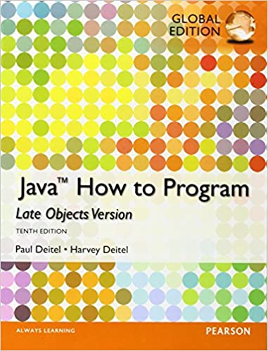 Java How To Program Late Objects Global Edition Deitel Harvey M Deitel Paul J 9781292019369 Amazon Com Books