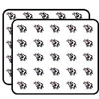 Cute Cow Sticker for Scrapbooking, Calendars, Arts, Kids DIY Crafts, Album, Bullet Journals 50 Pack