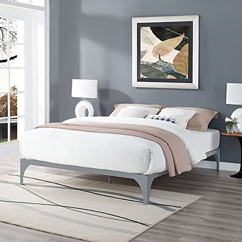 Find Cheap LexMod Ollie King Bed Frame in Gray