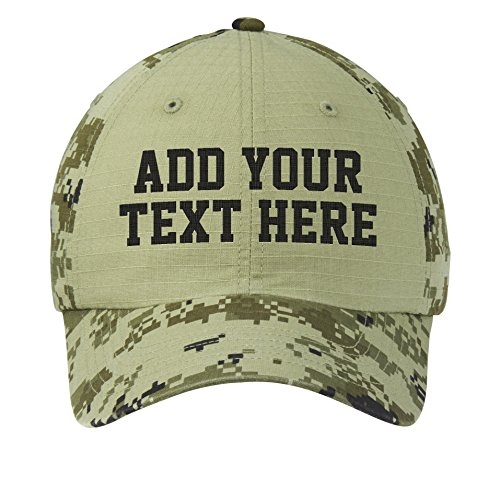 Custom Embroidered Digital Ripstop Camouflage Hat - ADD Text - Monogrammed ()