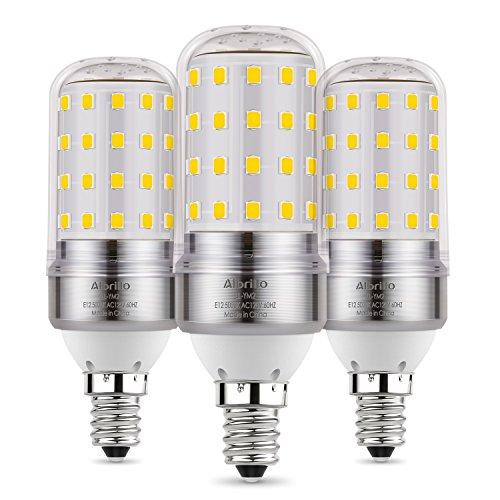 Albrillo E12 LED Bulb, Candelabra LED Bulbs 100 Watt Equivalent, Daylight White 5000K Candle Base Chandelier Light Bulbs Non-Dimmable LED Lamp, 3 Pack ()