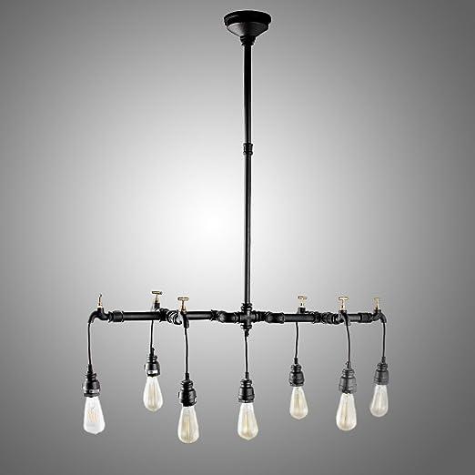 Amazon.com: 7 luces negro pipa de agua de araña lámpara de ...