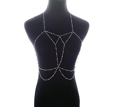 Amazon.com: Women Body Chain, GOTD Fashion Nightclub Party Bra Chain Sexy Harness Bikini Body Chain Women Jewelry (Gold): Clothing