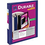 Avery Durable View Binder with 1-Inch Slant Ring, Holds 8.5 x 11-Inch Paper, Blue, 1 Binder (17014)