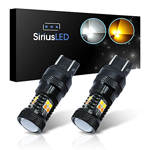 Prelude Projector Led (SiriusLED Super Bright White and Amber Switchback 3030 Chipset SMD LED Bulbs with Projector for Car Turn Signal Lights DRL 7440 7441 7443 7444 992)