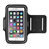 AUKEY Running Sport Sweatproof Armband with Headphone and Key Slots for iPhone 6 / 6s ( 4.7 inch ) and Similar Sized Smartphones ( PC-T4 )