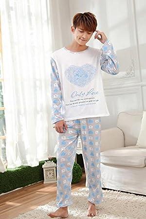 &zhou Pijamas de parejas ocio pijamas ropa hogar , male , l