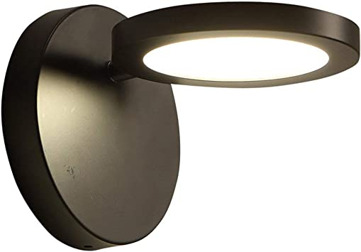 Wall Mounted Bedside Lamp Bedroom Living Room Led Reading Lamp Modern Staircase Wall Lamp Adjustable Angle K L Black White Light Amazon Com