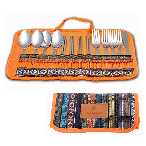 WXQ-XQ 13 in 1 Portable Outside Travel Tenting Picnic Stainless Steel Tableware Set by WXQ-XQ