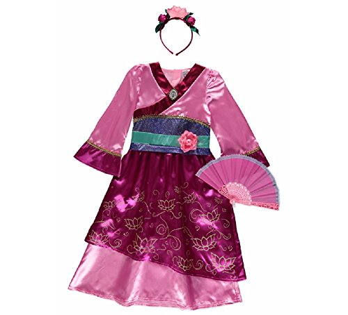New George Disney Princess Mulan Fancy Dress Outfit Book Day Costume [3-4] - Chinese Costumes Uk