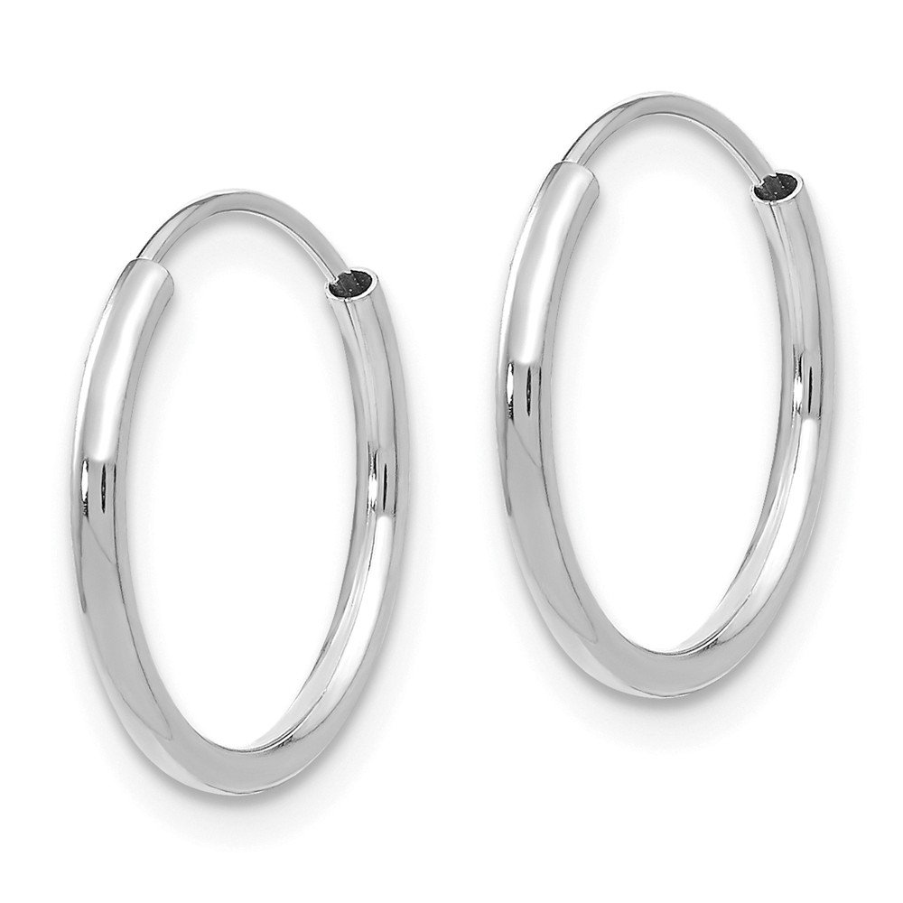 Mia Diamonds 14k Madi K White Gold Endless Hoop Earrings