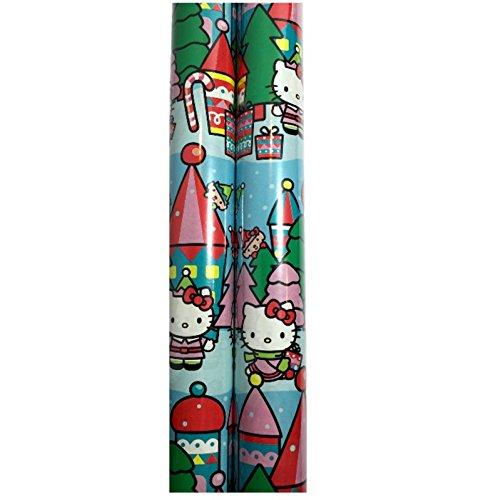Christmas Gift Wrap 2 Rolls 40 Feet Total (2 Rolls, Hello Kitty) ()