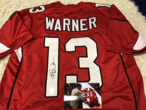 Kurt Warner Autographed Signed Arizona Cardinals Custom Jersey Gtsm Warner Player Hologram W Photo From Signing