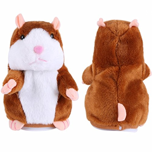 Talking Hamster Repeats After Words & Sounds Electronic Pet Talking Plush Toy Gift for Kids Children.Special Gift for Kids Ages 4 & Older.Perfect Gift for Boys and Girls 3 x 5.7 inch