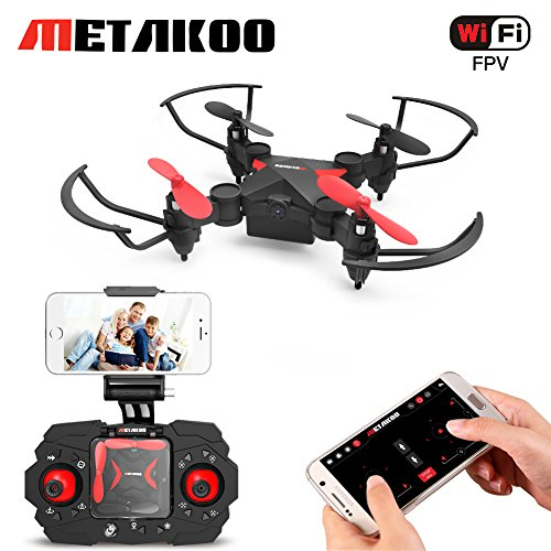 Mini Drone, Metakoo M2 WiFi FPV Drone for Kids, RC Quadcopter with HD Camera, Altitude Hold, 3D Flips, Headless Mode, One-Key Return/Take-Off/Landing, Easy to Fly for Beginners