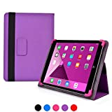 9 - 10.1 inch tablet case, COOPER INFINITE ELITE Protective Rugged Shockproof Carrying Universal Portfolio Case Cover Folio Holder with Built-in Stand for 9, 9.7, 10, 10.1'' inches tablets (Purple)