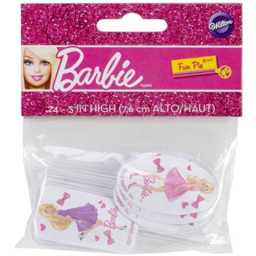 Wilton Fun Pix, Barbie, 24-Pack