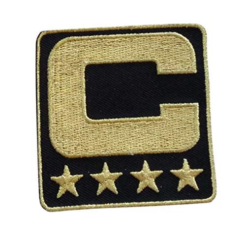 Black All Gold Captain C Patch Iron On for Football Jersey (New Orleans)