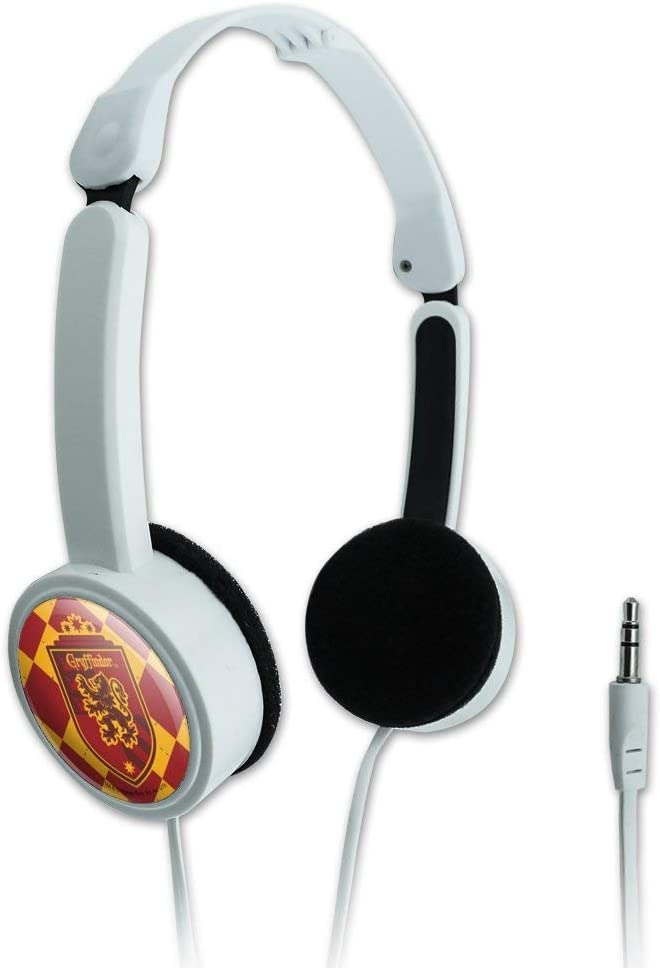 GRAPHICS & MORE Harry Potter Gryffindor Plaid Sigil Novelty Travel Portable On-Ear Foldable Headphones