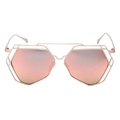 Metal Polígonos Gafas De Sol Gafas De Sol Hembra Película De Color Irregular