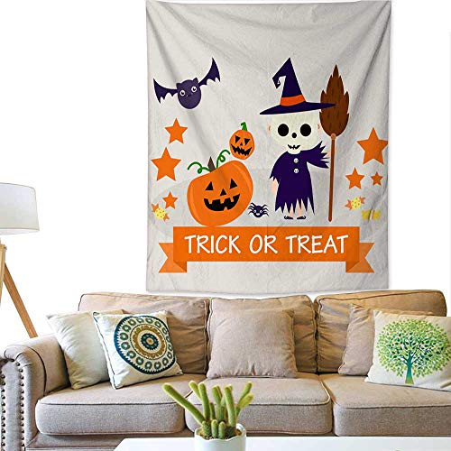 BlountDecor Gorgeous Tapestry Halloween Background with Lovely Costumes 51W x 60L INCH