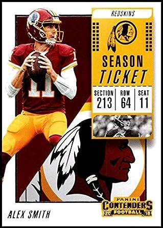 2018 Panini Contenders Season Tickets  1 Alex Smith Washington Redskins NFL  Football Trading Card 4961e8d23