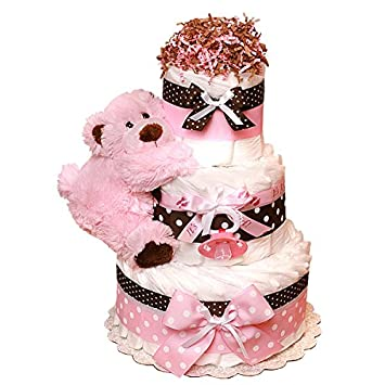 Pleasant Diaper Cake Teddy Bear Teddy Bear Baby Shower Decoration Diaper Birthday Cards Printable Nowaargucafe Filternl