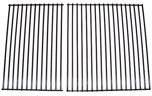 Cooking Grills Fiesta (Music City Metals 54232 Porcelain Steel Wire Cooking Grid Set Replacement for Select Arkla and Fiesta Gas Grill Models)