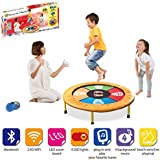 Vivo © Kids Dancing Trampoline Game with Sounds and Music the perfect workout mini-trampoline mat for any child and hours of fun educational light, shapes, co-ordination - Bluetooth and Wifi Compatible, works with iPhone / Android / Spotify / Apple Music / iTunes - Multi Colour