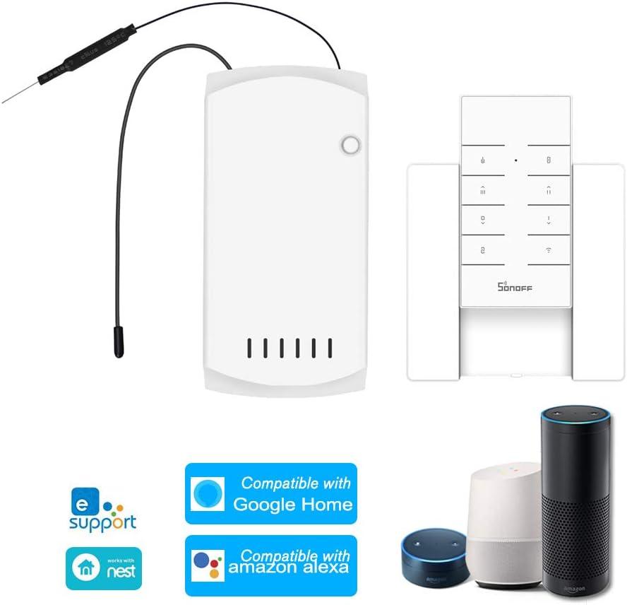 OWSOO SONOFF Control Remoto para Ventiladores de Techo con RF Remoto y Base, Interruptor Inteligente, Control Remoto ON/Off de App, Compatible con Alexa Google Home/Nest IFTTT