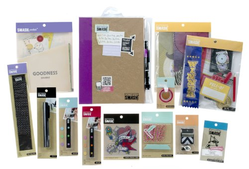 K&CompanySMASH Scrapbooking Folio Kit, (Rub Ons Tattoos)