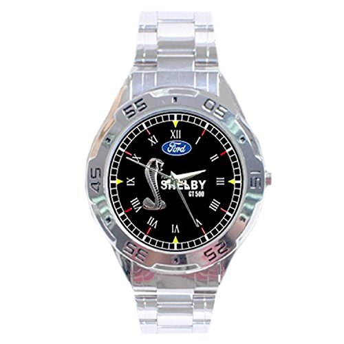 mrzk076-new-rare-ford-mustang-shelby-gt-500-custom-chrome-mens-watch-wristwatches
