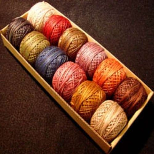 Valdani Perle Cotton Embroidery Thread Size 12 Vintage Hues Collection by Valdani