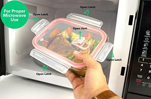 vremi 18 piezas cristal recipientes de almacenamiento de alimentos ...