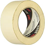 3M 70006745510 201+ General Use Masking Tape, 1.88 in. W X 60 Yd, Tan-1028591, 2 Inches x 60 Yards, Tan