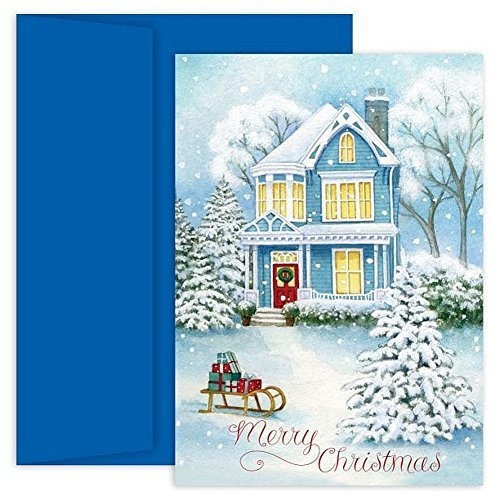 Holiday Home Boxed Christmas Cards With Envelopes (18) ()
